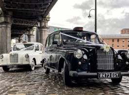 Classic Black Cab for weddings in Manchester